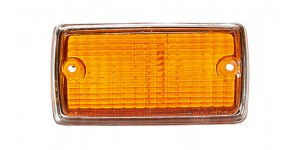 Front Indicator Lens Amber (Painted Chrome Surround)