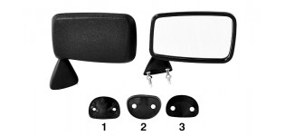 Front Door Mirror Black